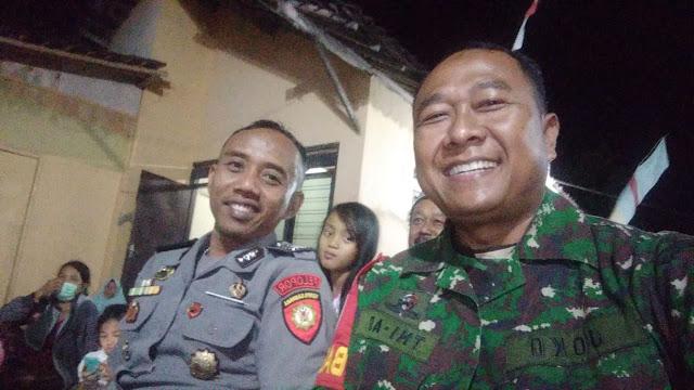 Senyum TNI Polri di Wonosari Bikin Warga Gembira