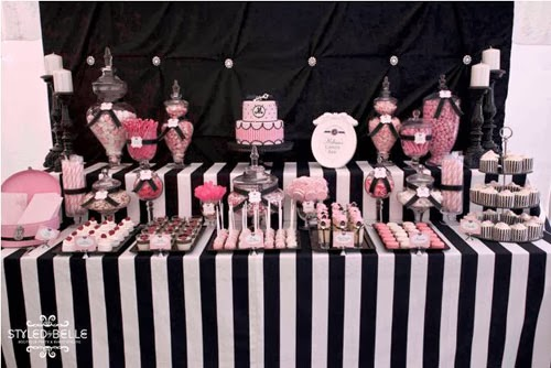 Pink, Black And Gold Party Ideas