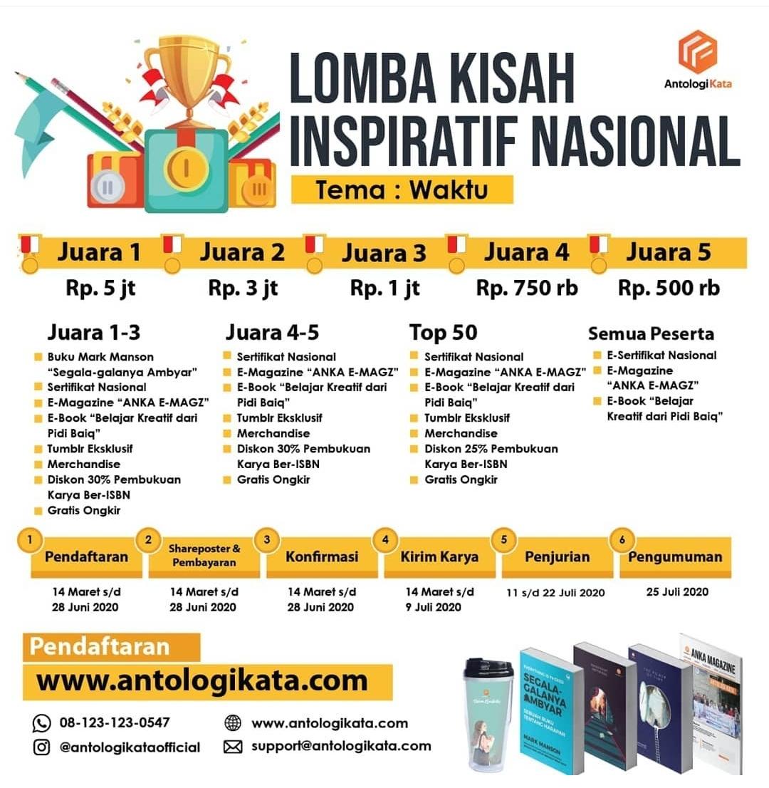 Antologi Kata Proudly Present Lomba Kisah Inspiratif Nasional 2020