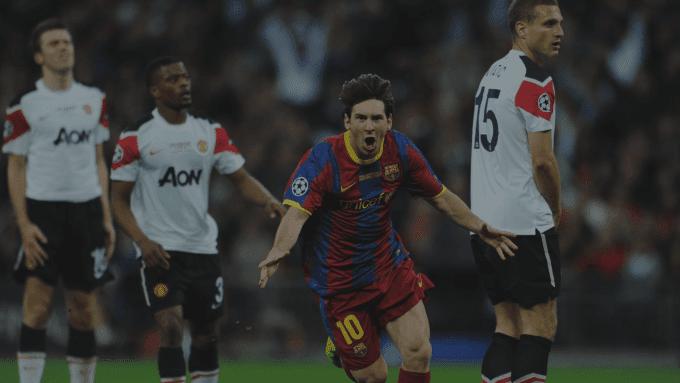 Idnfotbal - Lumbung Goal Lionel Messi ke Gawang Manchester United