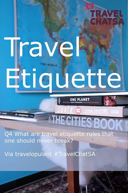 Travel Etiquette TravelchatSA Dorothee Lefering