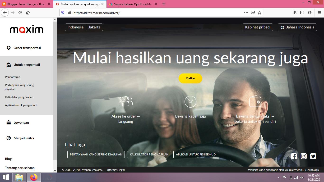 Cara Daftar Menjadi Driver Maxim Untuk Ojek Online Dan Taksi Online Denianggoleta