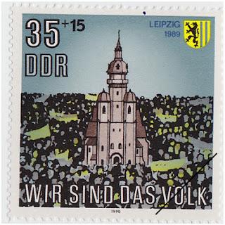 Leipzig Briefmarke 1989 Wir sind das Volk