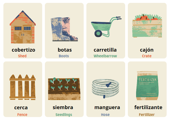 garden in Spanish
