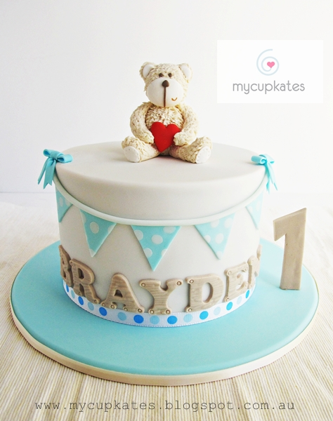 Teddy Bear 1st Birthday Cake