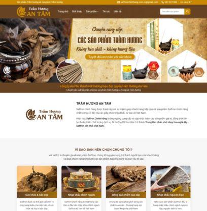 Template blogspot bán Trầm Hương