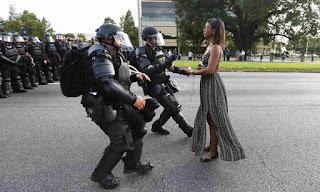 Iesha Evans Baton Rouge Photograph: Jonathan Bachman/Reuters