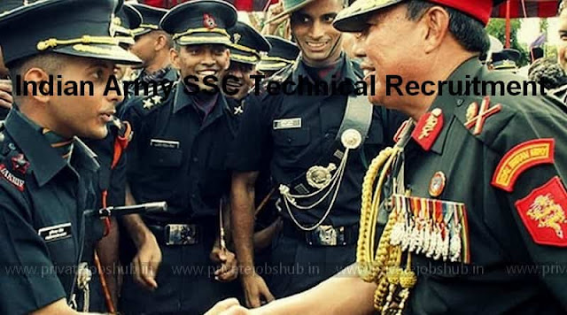 Indian Army SSC Technical Recruitment