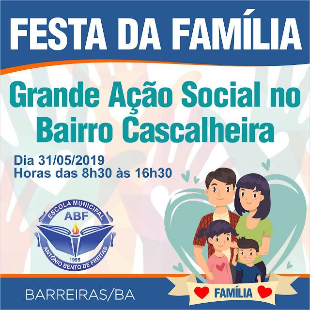 Escola municipal Antônio Bento de Freitas promove mais uma edição da Festa da Família