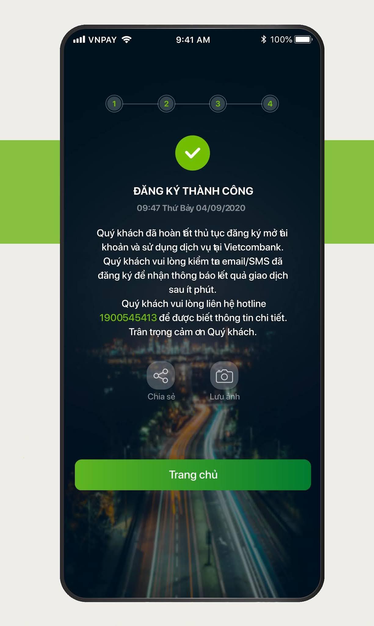 Hướng dẫn đăng ký mở tài khoản ngân hàng Vietcombank online