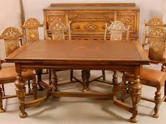 antique dining room furniture 1920