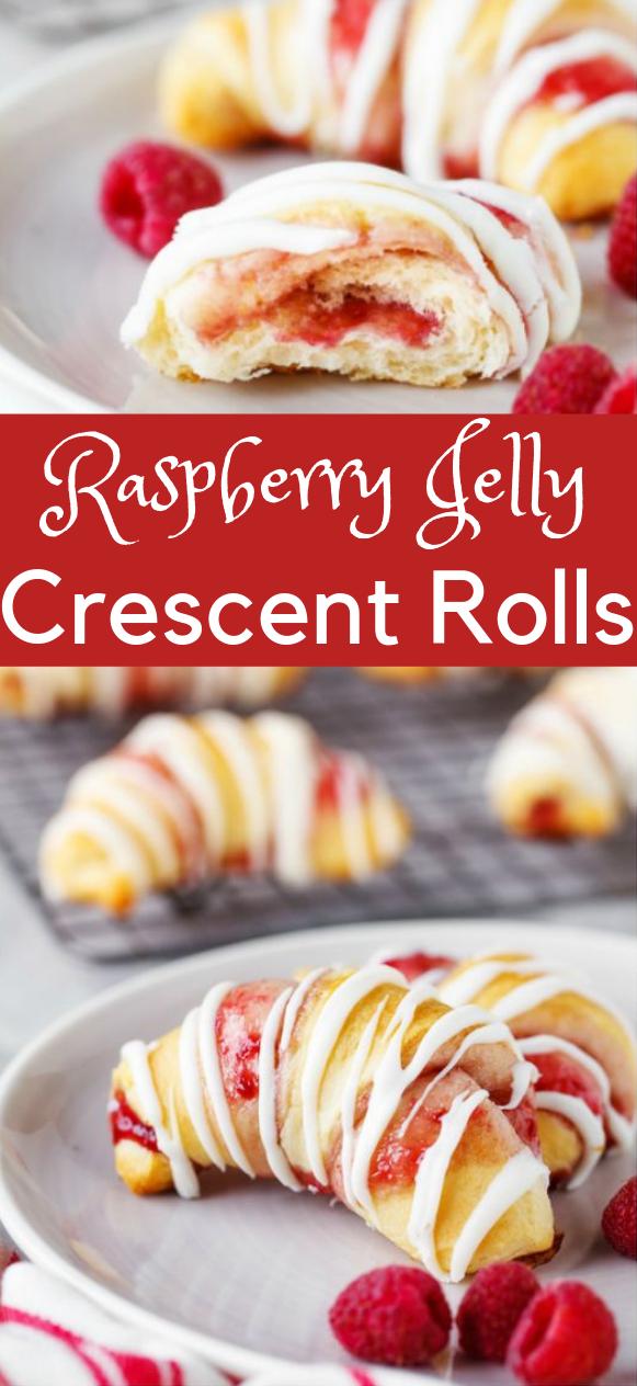 RASPBERRY CRESCENT ROLLS #rolls #dessert