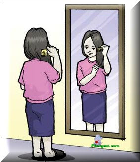 Sebelum pergi ke sekolah, kita sering bercermin di depan kaca untuk apa?
