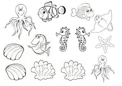 fabriquer nemo  enfant aquarium activité manuelle petits maternelle imprimer poisson