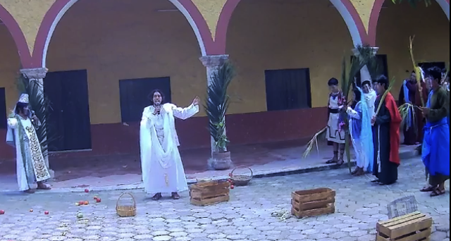 Domingo de Ramos: Acanceh revive la entrada triunfal de Jesús a Jerusalem