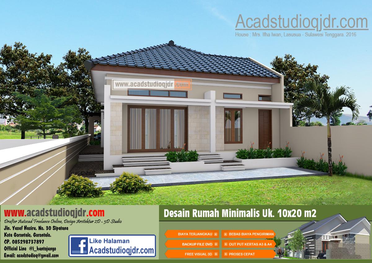 Desain Rumah Tropis Minimalis di Lahan 10x20 meter  Jasa Desain Rumah