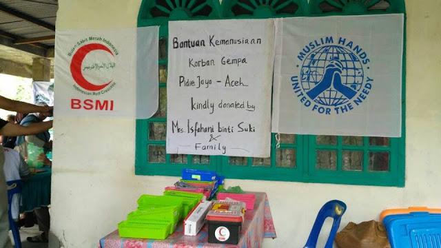 Muslim Hands dan BSMI Berikan Bantuan Obat-Obatan dan Kesehatan Bagi Para Korban Gempa Pidie Jaya