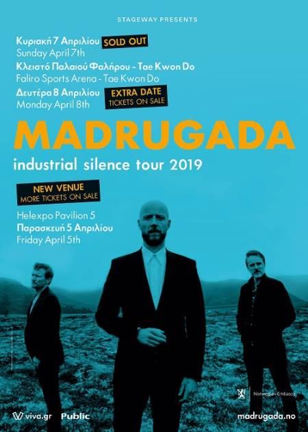 MADRUGADA: Και δεύτερη συναυλία στην Αθήνα, αλλαγή χώρου διεξαγωγής στη Θεσσαλονίκη