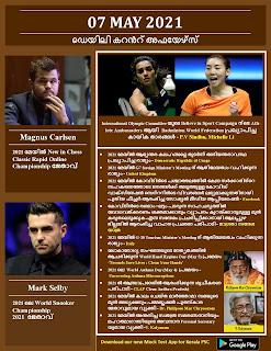 Daily Malayalam Current Affairs 07 May 2021