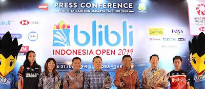 LIVE Streaming Blibli Indonesia Open 2019