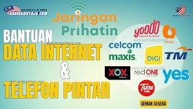 JARINGAN PRIHATIN : Cara Pendaftaran Bantuan Data Internet & Telefon Sudah Dibuka ! - Mohon Segera
