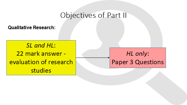IB Psychology - Qualitative Research Part II : Case Studies