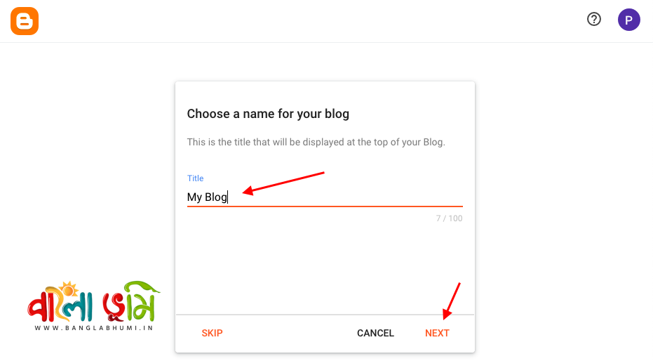 How to Create a Blog on Blogger - Step 3