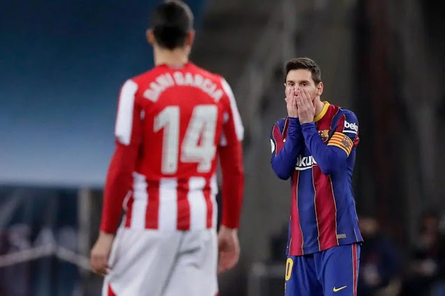 Messi reacts to red card against Athletic Bilbao