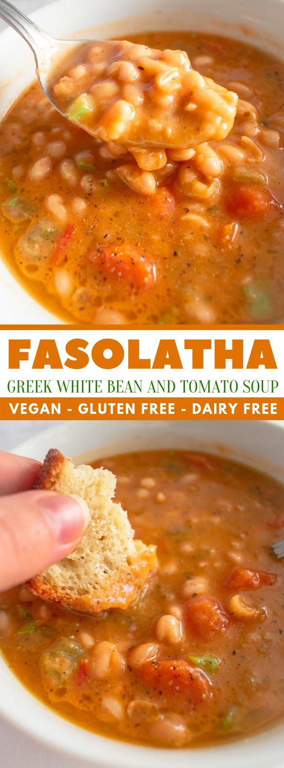 Fasolatha – White Bean And Tomato Soup #vegetarian #comfortfood