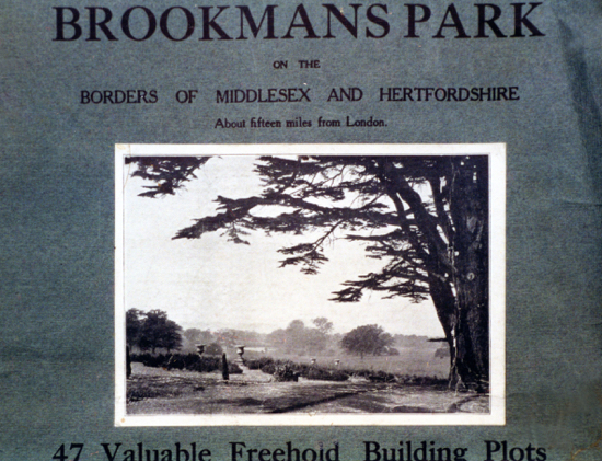 Scan of the cover of the Brookmans Park Estate sales brochure of 1926 From the Images of North Mymms Collection