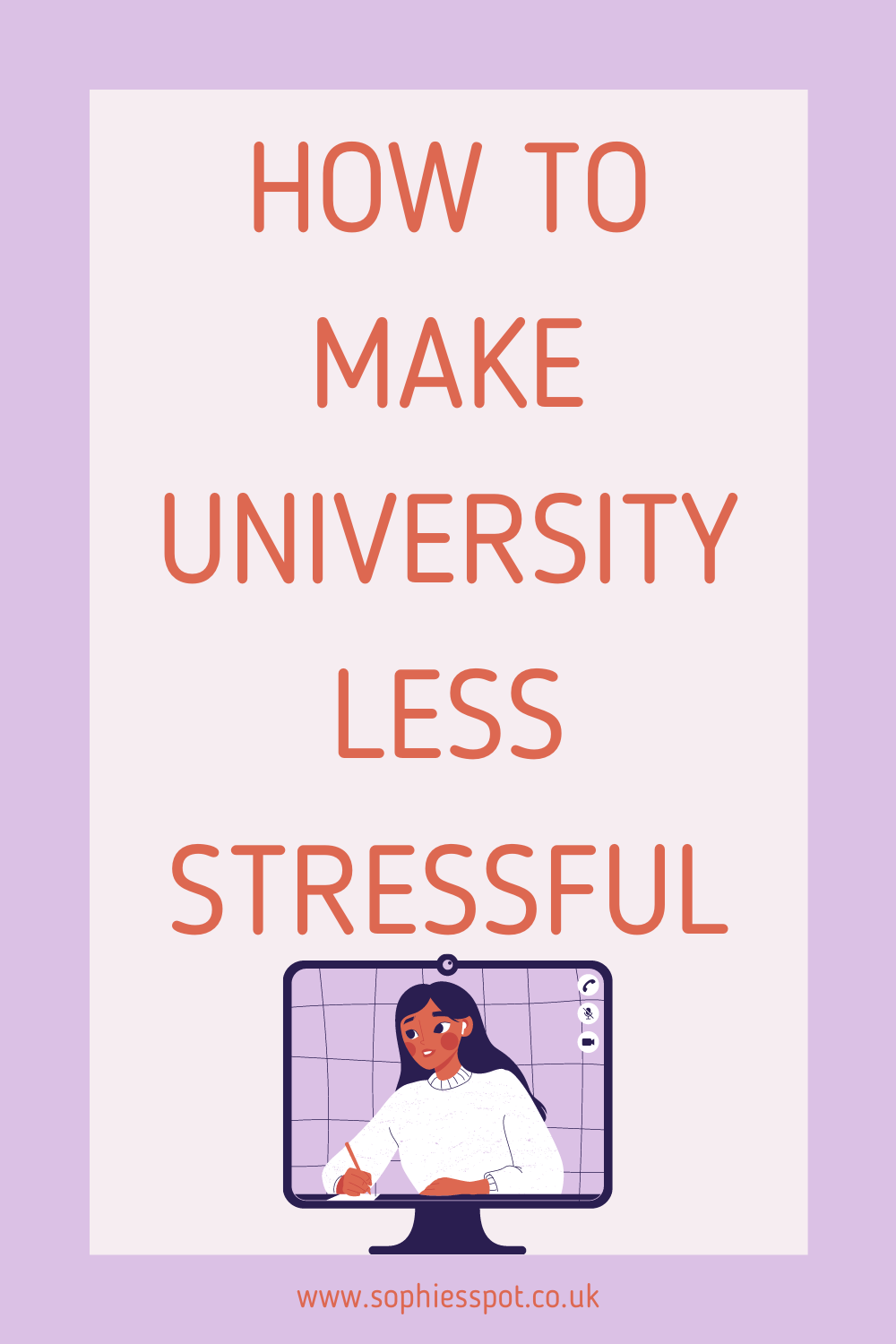 How to make university less stressful graphic