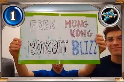 Las protestas de Hong Kong  blizzard
