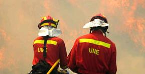 150 firefighters supported by air units were fighting the fire