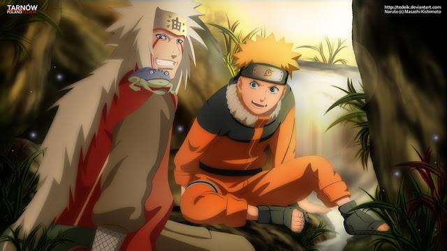 Jiraiya dan Naruto Uzumaki