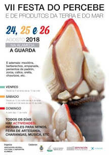 A GUARDA: VII FESTA DO PERCEBE E DE PRODUTOS DA TERRA E DO MAR, OS DÍAS 24,25 E 26 DE AGOSTO