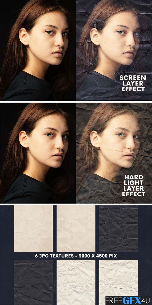 Wrinkle Papers Overlay Photo Effects