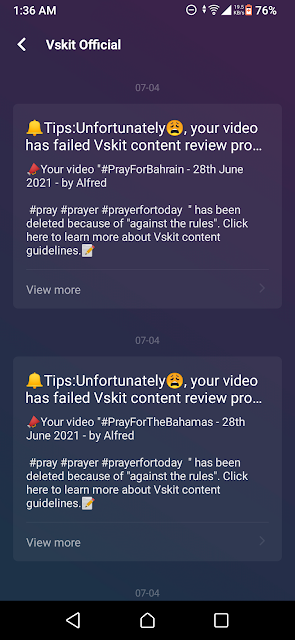 VSkit Takes Down My Videos & Messages Me That They Don't Want Christian Praying Content