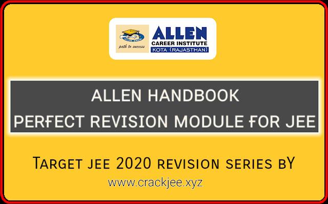 Allen Handbooks for IIT JEE Main and advanced