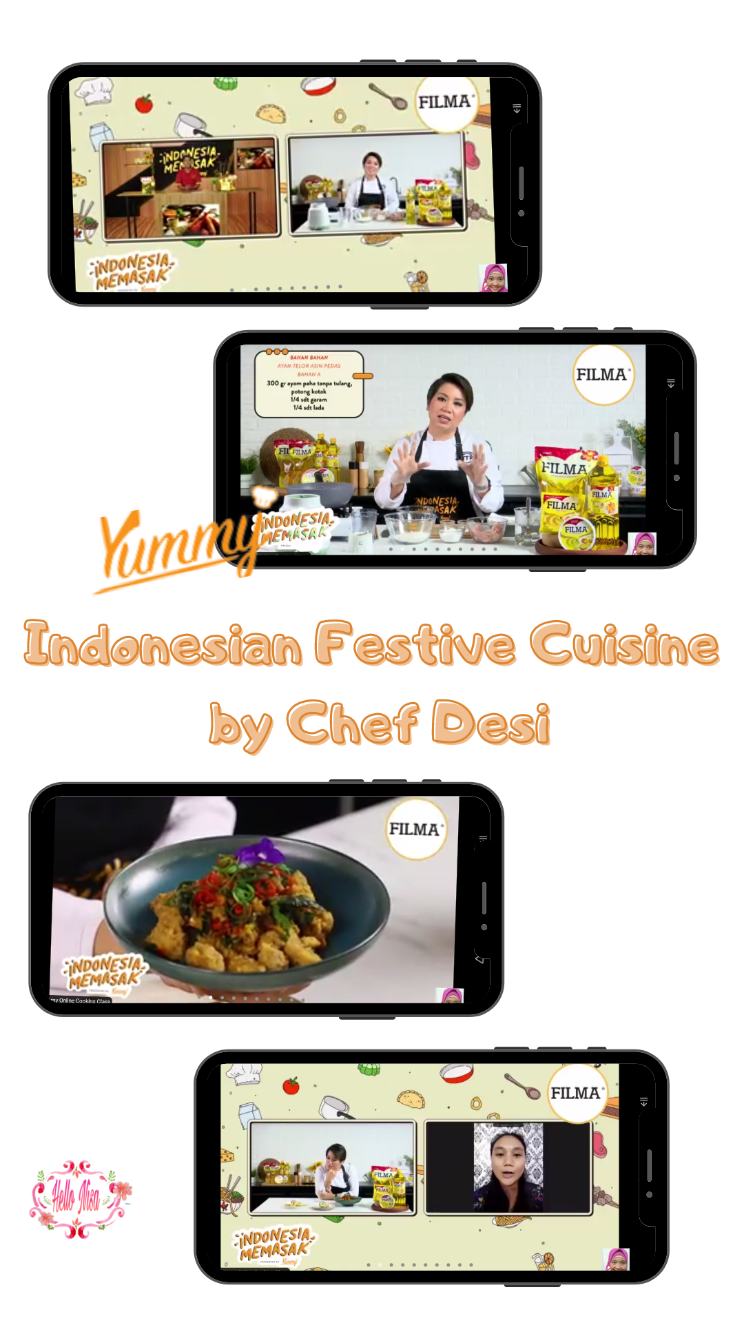 Indonsian festive cuisine by chef desi