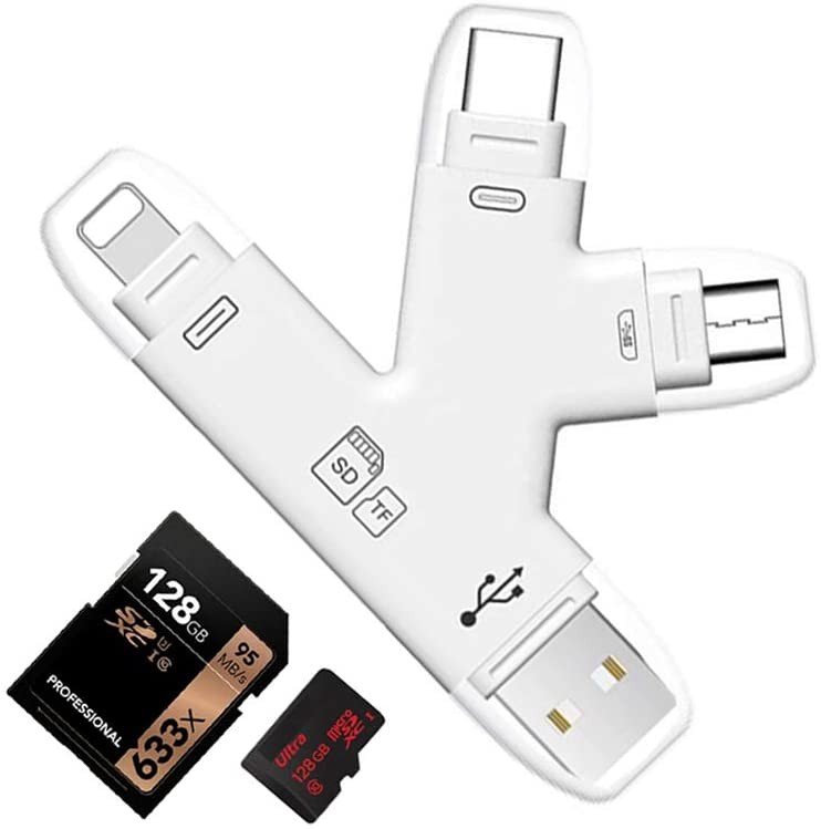 4 in 1 SD SDHC Card Reader 50% off