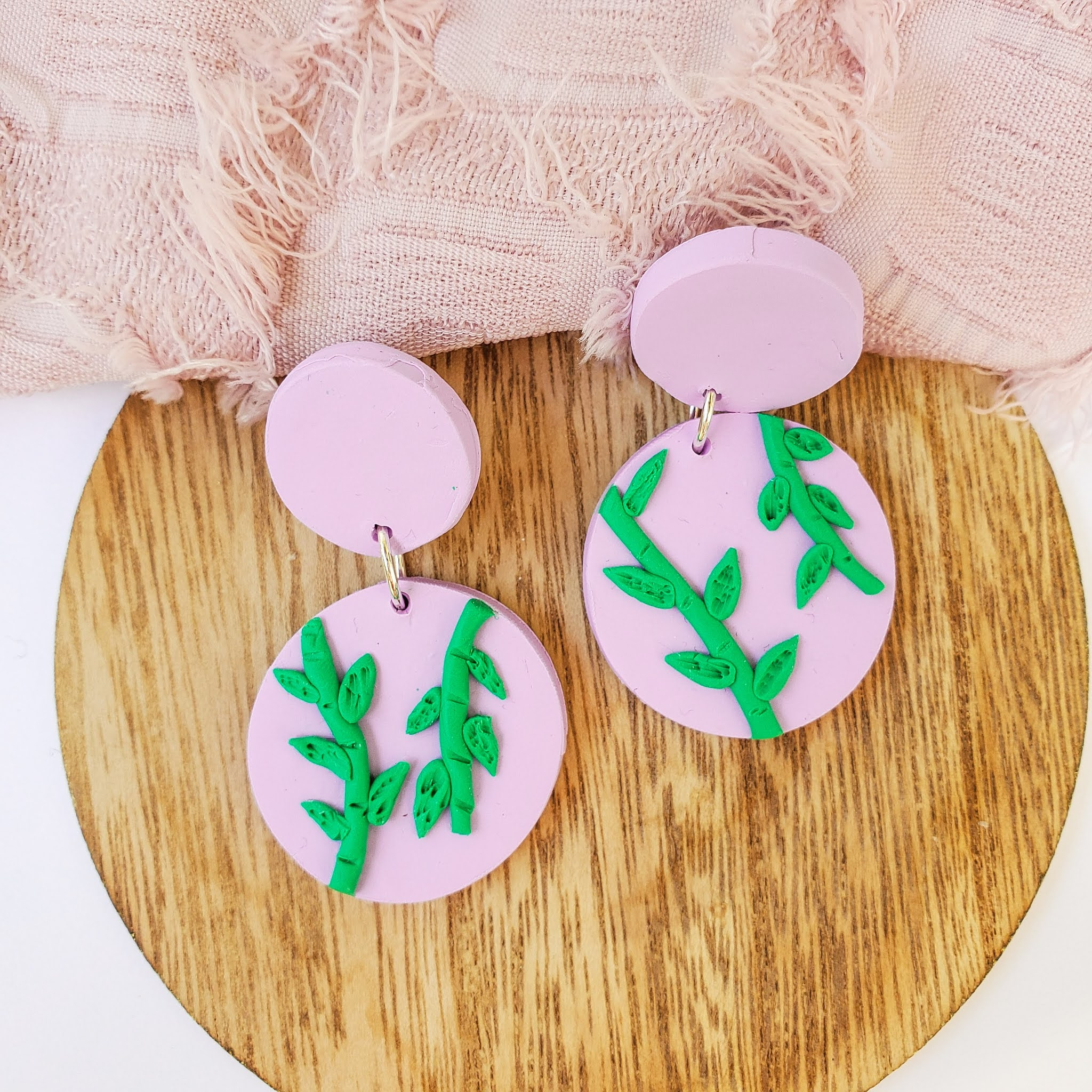 Hello Amess - Mila drop earrings - polymer clay statement earrings