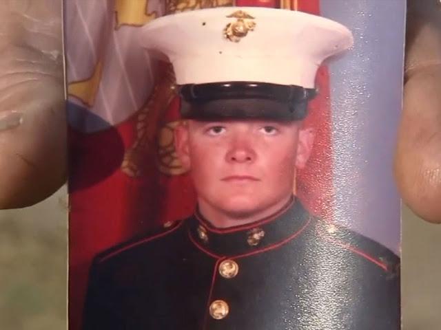 Everitt Jameson when he was in US Marine training