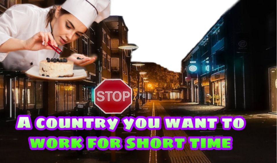 Describe a country in which you would like to work for a short time