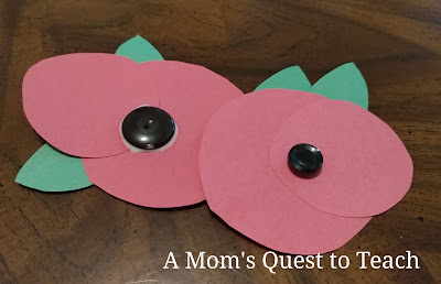 Completed paper poppy pins