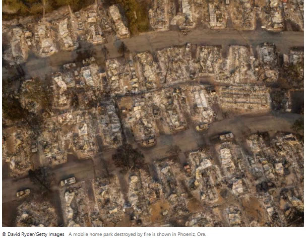 Oregon officials fear wildfires could cause widespread deaths after burning more than a million acres