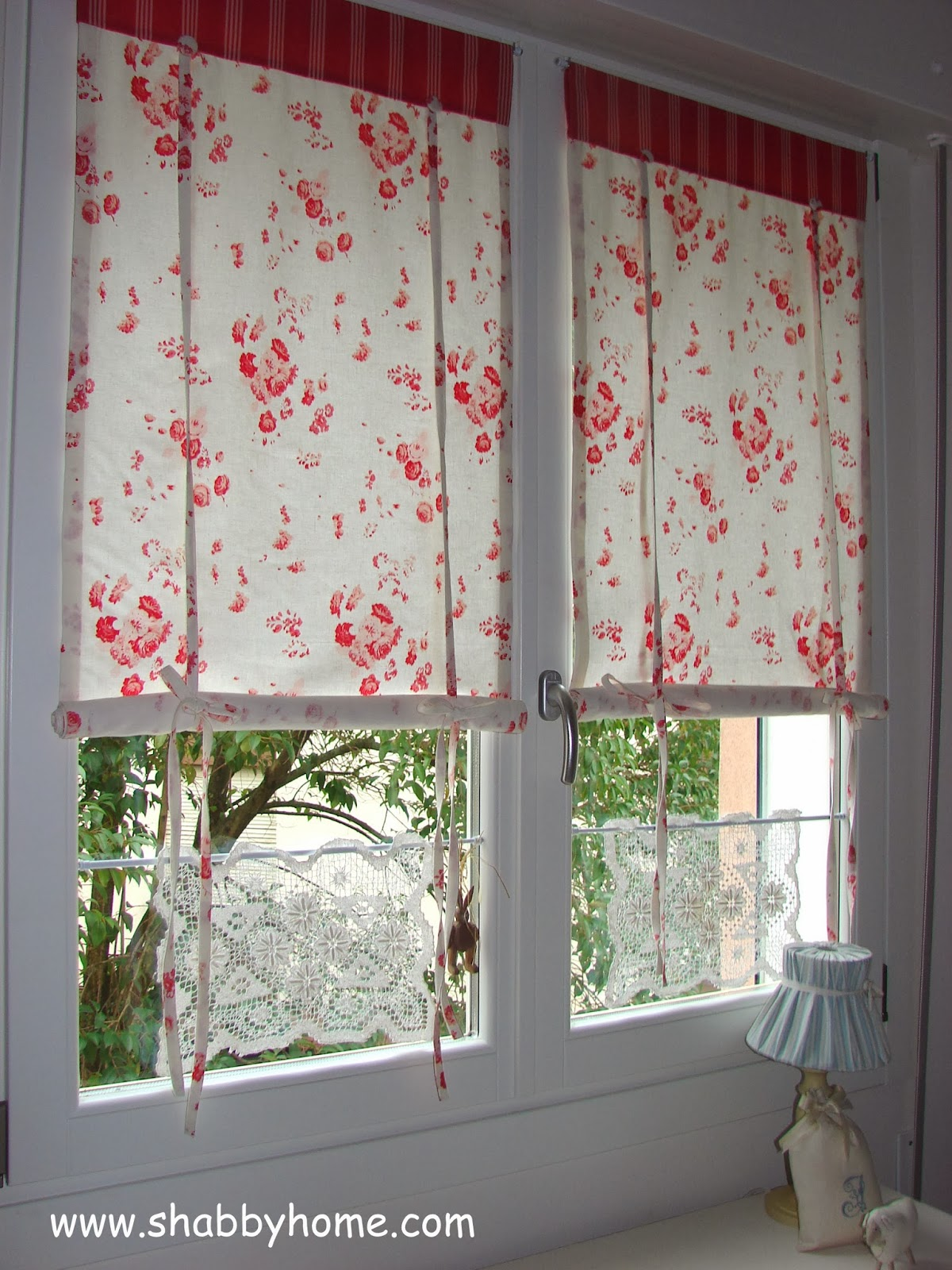 Shabby Home: Tutorial come realizzare delle tende Shabby Chic - Tutorial how to sew a Shabby ...