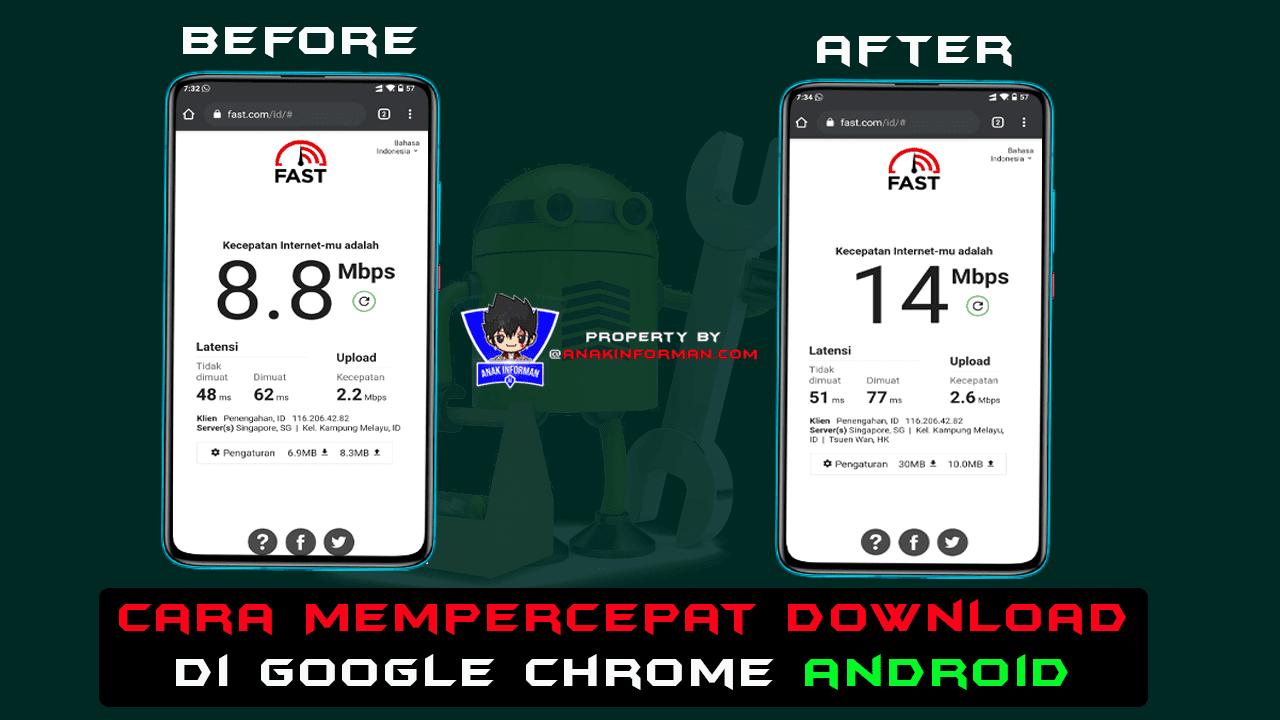 Cara Mempercepat Download di Google Chrome Android