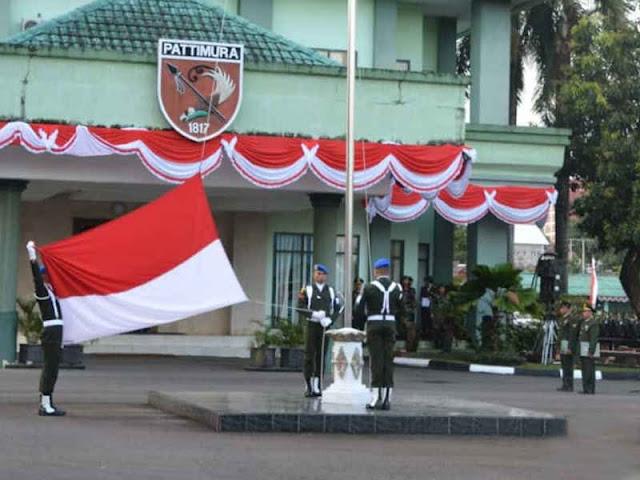 Kodam Pattimura Laksanakan Upacara Peringatan Hari Kemerdekaan RI ke 73