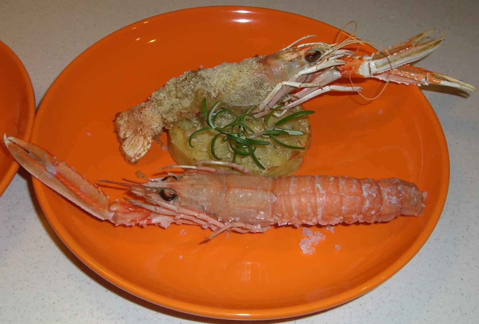 Cucinare assaporare bere e dintorni antipasto di scampi for Cucinare scampi