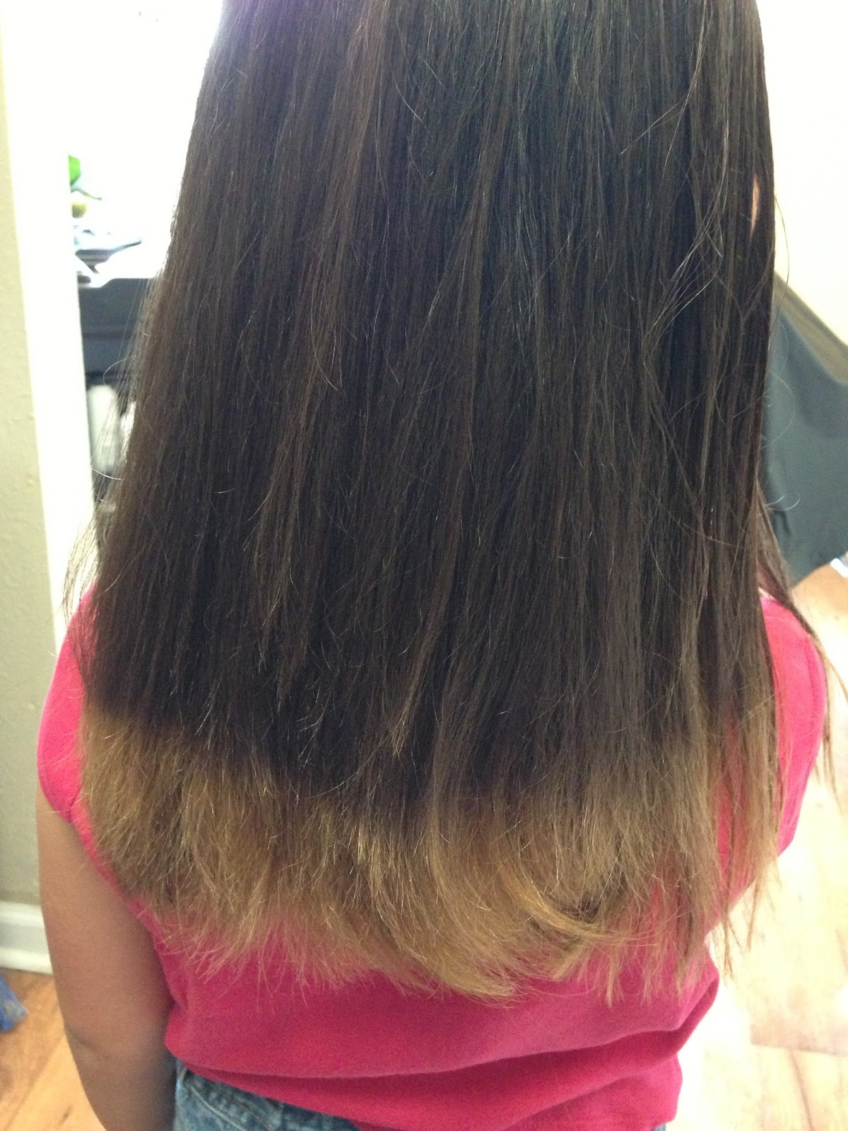 Brown Hair With Red Colored Tips